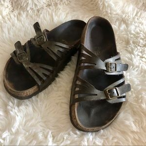 Birkenstock Palermo Brown Leather Sandal Size 37/6